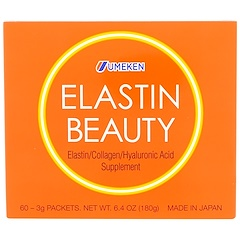 Umeken, Elastin Beauty, 60 Packets, 3 g Each