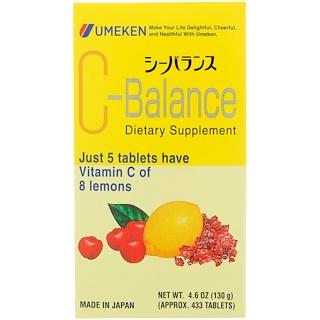 Umeken, C-Balance, 433 Tablets