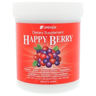 Umeken, Happy Berry, 6.4 oz (180 g), Approx. 400 Pieces