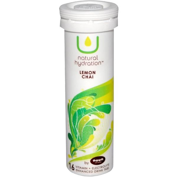 U Natural Hydration, Vitamin + Electrolyte Enhanced Drink Tabs, Lemon Chai, 16 Tablets (Discontinued Item)