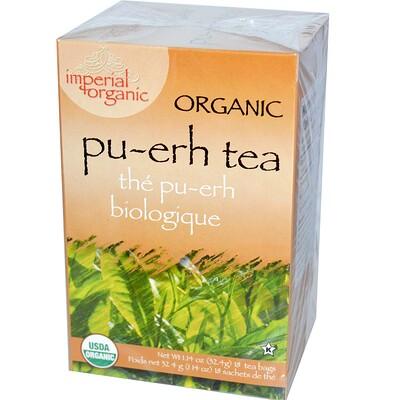 Купить Uncle Lee's Tea Органический чай пуэр, 18 чайных пакетиков, 1, 14 унции (32, 4 г)
