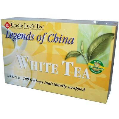 Легенды Китая, белый чай, 100 пакетиков, 5,29 унции (150 г)