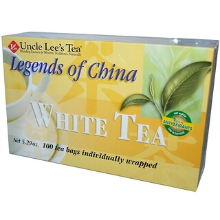 Uncle Lee's Tea, Legends of China, White Tea, 100 Tea Bags, 5.29 oz (150 g)