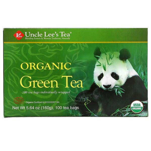 Organic Green Tea, 100 Tea Bags, 5.64 oz (160 g)