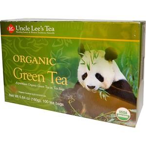 Анкл Лис Ти, Organic Green Tea, 100 Tea Bags, 5.64 oz (160 g) отзывы