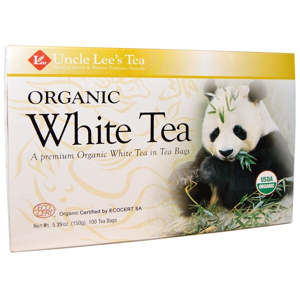 Uncle Lee's Tea, Té blanco orgánico, 100 bolsitas de té, 5.29 oz (150 g)
