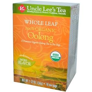 Анкл Лис Ти, 100% Organic Oolong Tea, Whole Leaf, 18 Tea Bags, 1.27 oz (36 g) отзывы