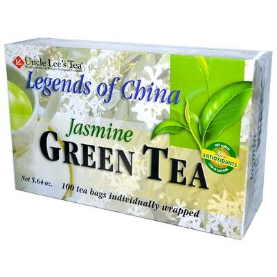 Легенды Китая, зеленый чай, с жасмином, 100 пакетиков, 5,64 унции (160 г)