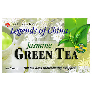 Uncle Lee's Tea, Legends of China, Green Tea, Jasmine, 100 Tea Bags Individually Wrapped, 5.64 oz (160 g)