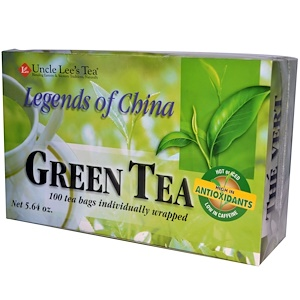 Анкл Лис Ти, Legends of China, Green Tea, 100 Tea Bags, 5.64 oz отзывы покупателей