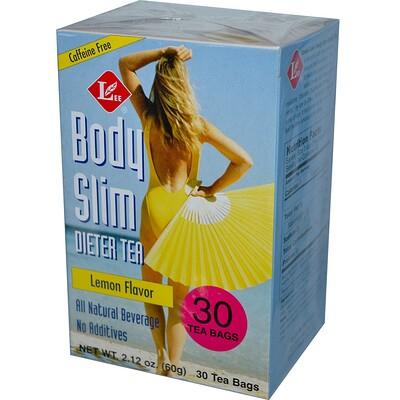 Чай для похудения с лимонным вкусом, Без кофеина, 30 чайных пакетиков, 2,12 унции (60 г)