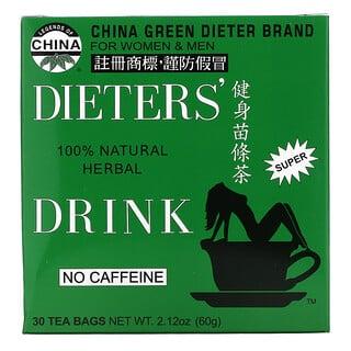 Uncle Lee's Tea, Legends of China, Dieter's 100% Natural Herbal Drink, No Caffeine, 30 Tea Bags, 2.12 oz (60 g)