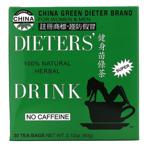 Legends of China, Bebida herbal 100% natural da Dieter, sem cafeína, 30 saquinhos de chá, 69 g