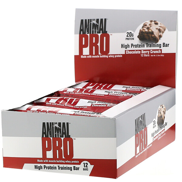 Animal Pro, High Protein Training Bar, Chocolate Berry Crunch, 12 Bars, 2.2 oz (62 g)