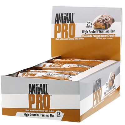 Купить Universal Nutrition Animal Pro, High Protein Training Bar, Chocolate Peanut Butter Crunch, 12 Bars, 2.0 oz (56 g)
