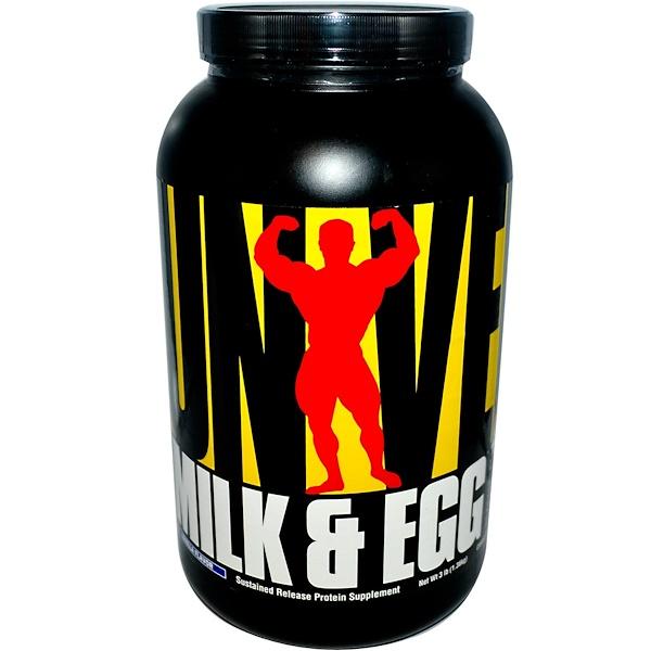 Universal Nutrition, Молочный и яичный белок, со вкусом ванили, 3 фунта (1,36 кг) (Discontinued Item)