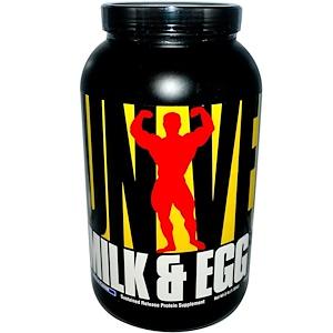 Юниверсал Нутришэн, Milk & Egg, Sustained Release Protein Supplement, Vanilla Flavor, Powder, 3 lbs (1.36 kg) отзывы
