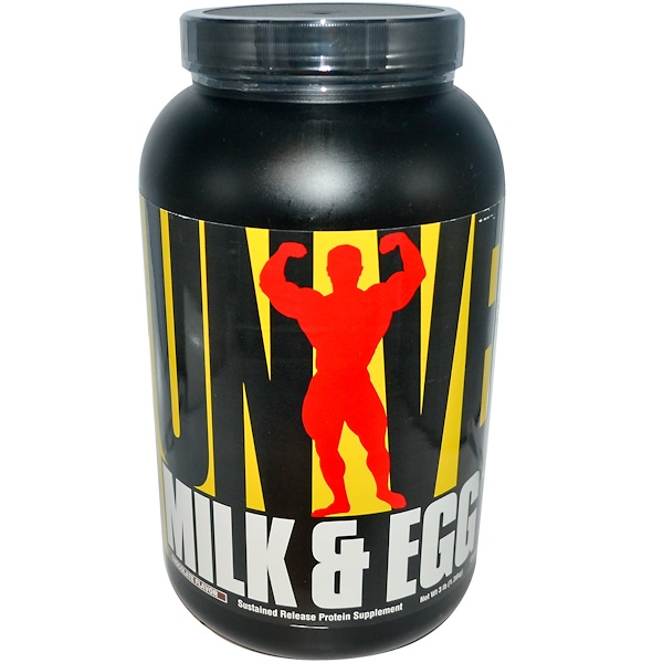 Universal Nutrition, Milk & Egg Protein, Chocolate Flavor, 3 lbs (1.36 kg) (Discontinued Item)
