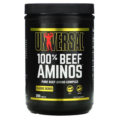 Universal Nutrition 100% аминокислоты говядины, 200 таблеток
