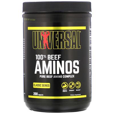 100% аминокислоты говядины, 200 таблеток