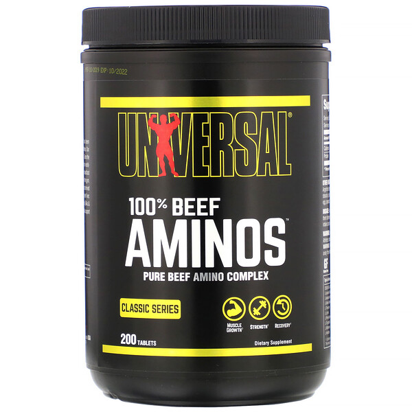 Universal Nutrition, 100% Beef Aminos, 200 Tablets