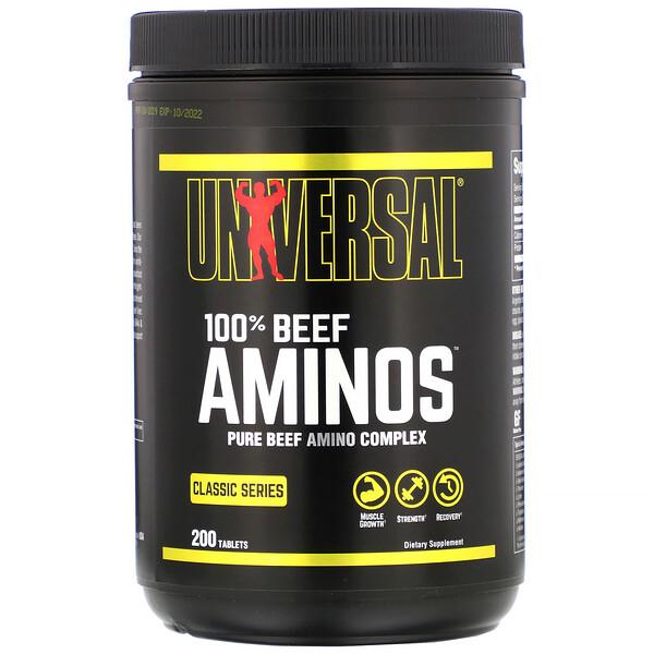 100% Beef Aminos, 200 Tablets