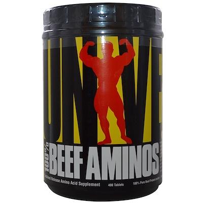 100 % Beef Aminos, 400 таблеток