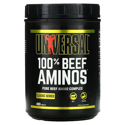 Universal Nutrition 100% Beef Aminos, 100% аминокислот говядины, 400таблеток