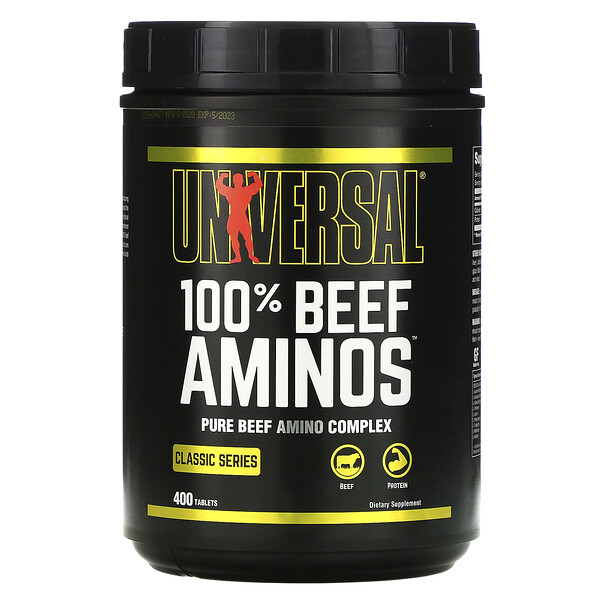 Universal Nutrition, 100% Beef Aminos, 400 Tablets