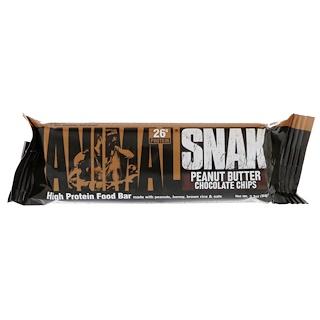 Universal Nutrition, Animal Snak Bar, Peanut Butter Chocolate Chip, 1 Bar, 3.3 oz (94 g)