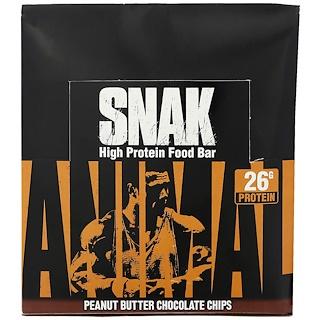 Universal Nutrition, Animal Snak Bar, Peanut Butter Chocolate Chips, 12 Bars, 3.3 oz (94 g) Each
