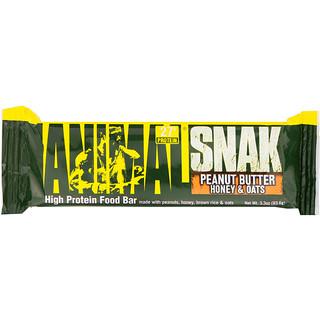 Universal Nutrition, Animal Snak Bar, Peanut Butter Honey & Oats, 1 Bar, 3.3 oz (93.6 g)