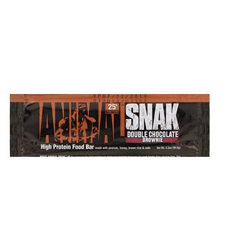 Universal Nutrition, Animal Snak Bar, Double Chocolate Brownie, 1 Bar, 3.3 oz (94.6 g)
