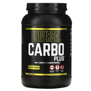Universal Nutrition, Carbo Plus، 100% كربوهيدرات مركبة، خالٍ من النكهات، 2.2 رطل (1 كجم)
