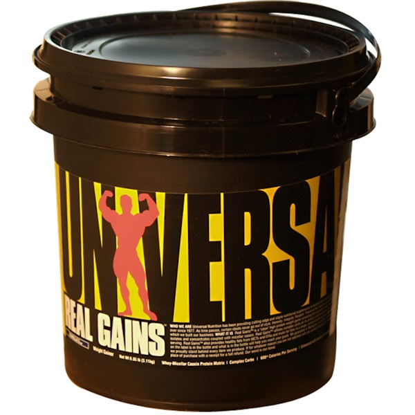 Universal Nutrition, Real Gains, Weight Gainer, Vanilla Ice Cream, 6.85 lb (3.11 kg) (Discontinued Item)