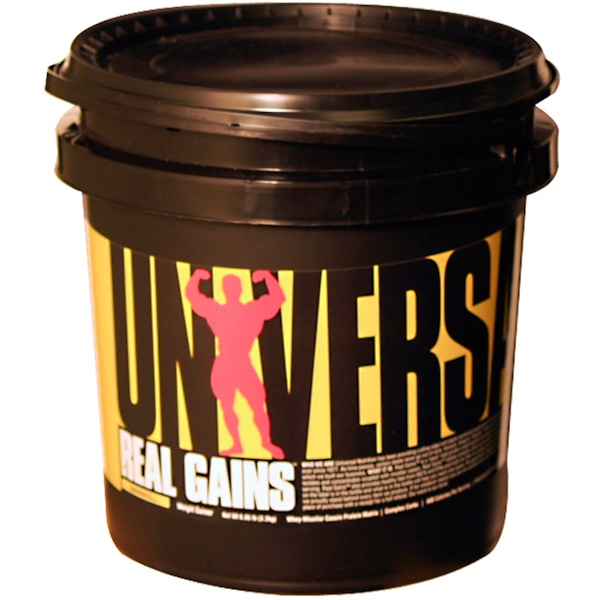 Universal Nutrition, Real Gains, Weight Gainer, Banana Ice Cream, 6.85 lbs (3.2 kg) (Discontinued Item)