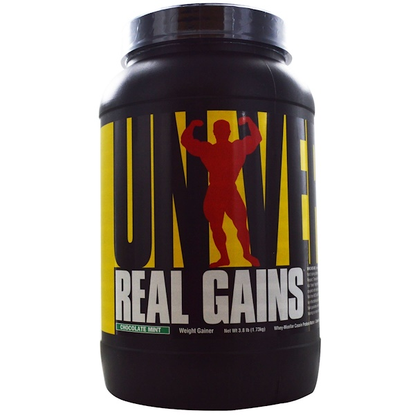 Universal Nutrition, Real Gains, Chocolate Mint, 3.8 lb (1.73 kg) (Discontinued Item)