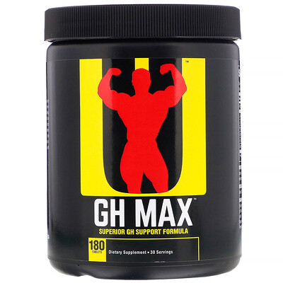 Universal Nutrition GH Max, Superior GH Support Formula, 180 таблеток