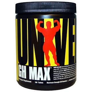 Universal Nutrition, GH Max, GH Support Supplement, 180 Tablets
