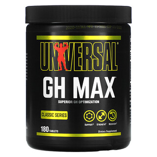 Universal Nutrition, Classic Series, GH Max, Superior GH Optimization, 180 Tablets