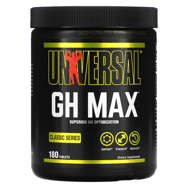 Classic Series, GH Max, Superior GH Optimization, 180 Tablets