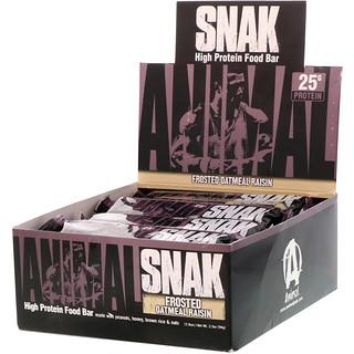 Universal Nutrition, Animal Snak Bar, Frosted Oatmeal Raisin, 12 Bars, 3.3 oz (94 g) Each