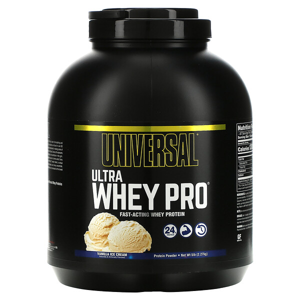 Ultra Whey Pro, Protein Powder, Vanilla Ice Cream, 5 lbs (2.27 kg)