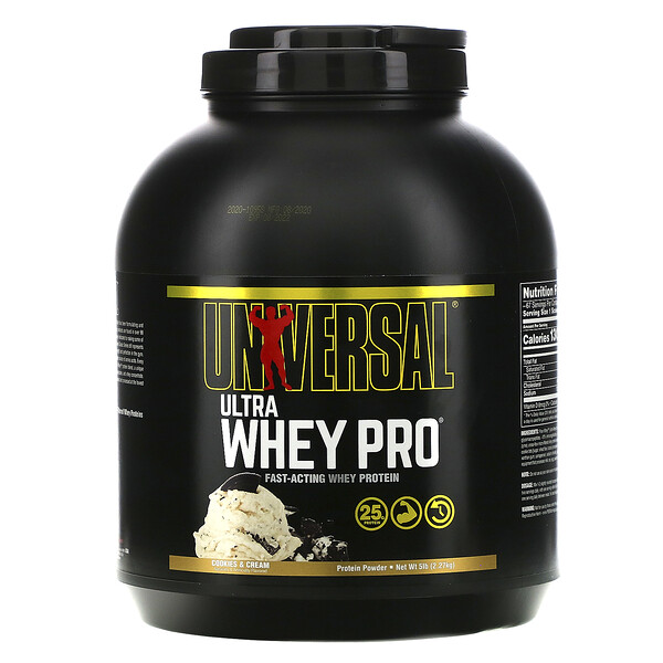 Ultra Whey Pro, sabor Cookies & Cream, 5 lb (2,27 kg)