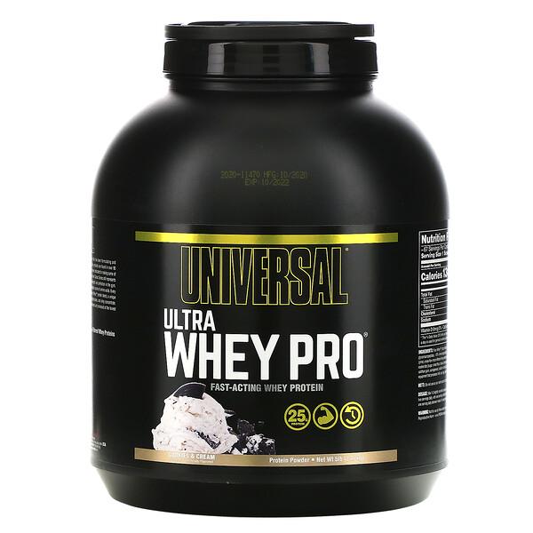 Ultra Whey Pro, Protein Powder, Cookies & Cream, 5 lb (2.27 kg)