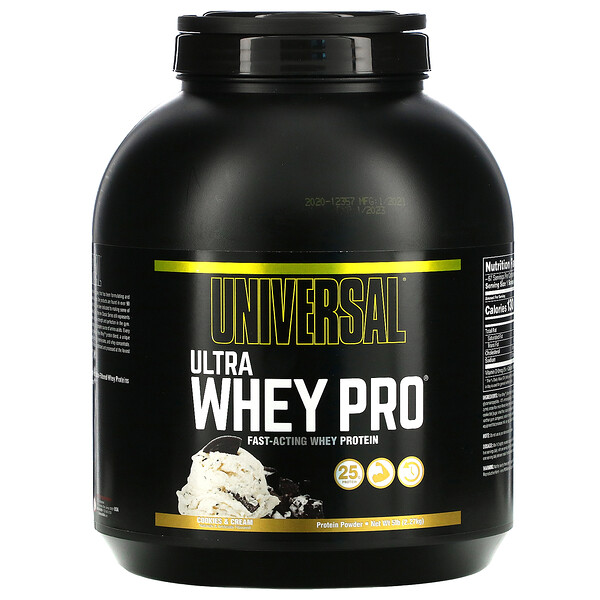 Ultra Whey Pro, Protein Powder, Cookies & Cream, 5 lb (2.27 kg)