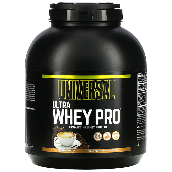 Universal Nutrition, Ultra Whey Pro, Protein Powder, Mocha Cappuccino, 5 lb (2.27 kg)