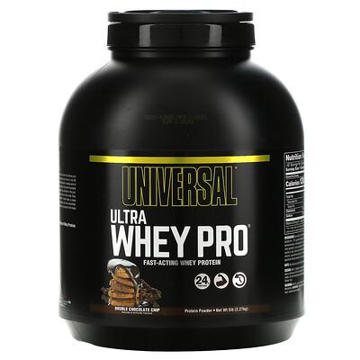 Universal Nutrition Ultra Whey Pro, протеиновый порошок, двойная порция шоколадной крошки, 2,27кг, (5фунтов)