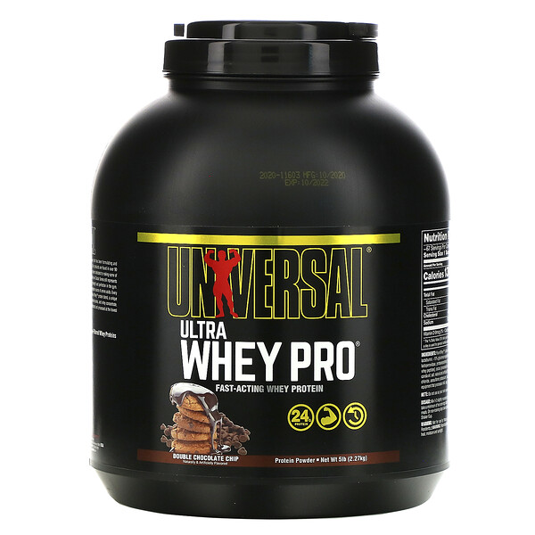 Ultra Whey Pro, Proteína em Pó, Double Chocolate Chip, 5 lbs (2,27 kg)
