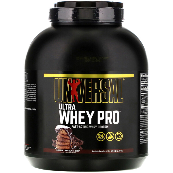 Ultra Whey Pro, Protein Powder, Double Chocolate Chip, 5 lb (2.27 kg)